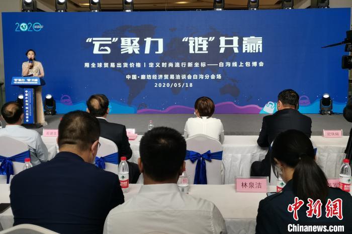 """河北白沟新城首启""""线上包博会""""""""直播经济""""走红"""