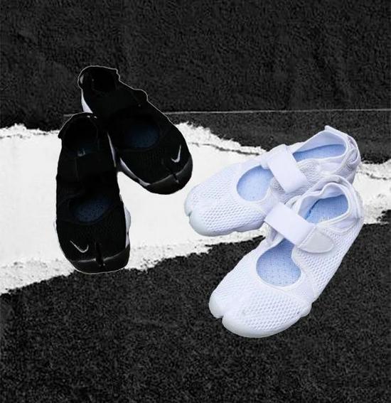 采用轻分趾设计的NIKE AIR RIFT鞋款